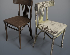 Wooden Chair Fanton 3D model low-poly