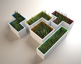 Tetris Flowerpot 3D print model