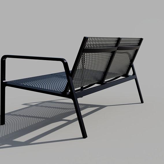 Terrace metal bench