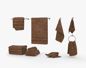 Towel 3D model bathroom
