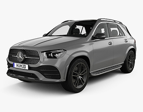 3D model Mercedes-Benz GLE-class AMG-Line with HQ interior