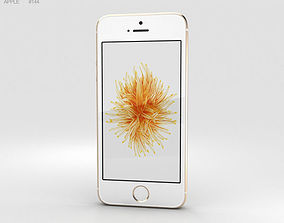 3D model Apple iPhone SE Gold ios