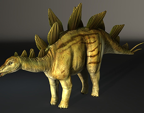 Stegosaurus High Poly 3D model