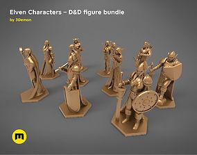3D print model ELF CHARACTERS GAME FIGURES BARGAIN