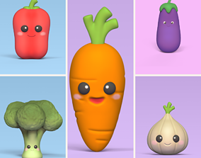3D print model Cute Vegetables