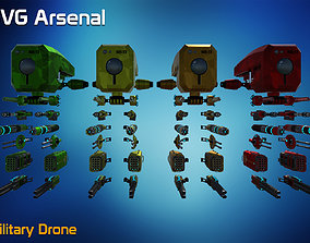 Military Drone - HQ 3D asset