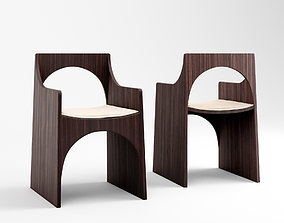 Christophe Delcourt Cle chair and Sol table 3D model