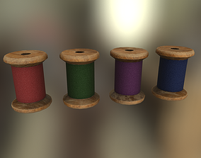 3D model game-ready Sewing Threads