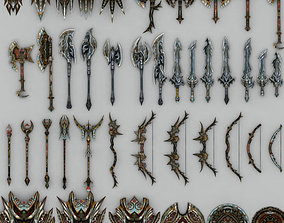 Fantasy arms set 3D asset