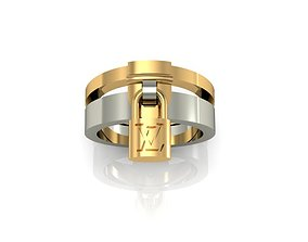 Louis Vuitton ring 3D print model