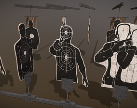 3D asset low-poly Shooting Targets Pack