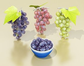 Grapes Collection High Detailed 3D model