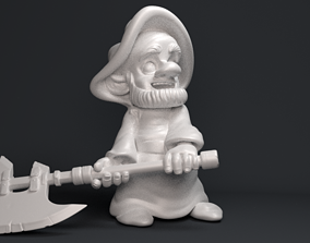 Gnome with an ax 3D printable model