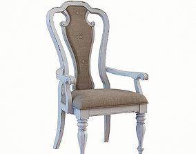 Splat Back Uph Arm Chair 3D model