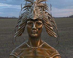 Mayan headdress model