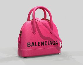 Balenciaga Ville Top Handle XXS Bag Pink Leather 3D asset