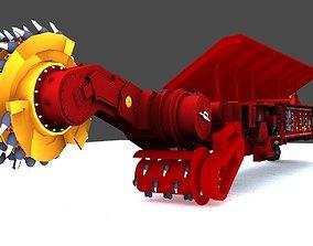 Coal Mining Machine 3D asset