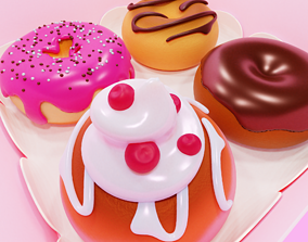 bakery 3D model VR / AR ready Donuts
