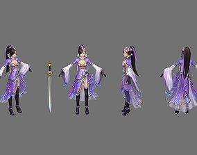 Swordsman Chivalrous guest 3D model