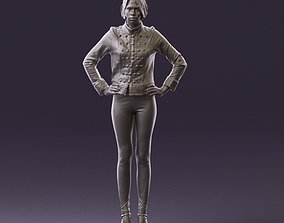 001003 woman in black show suit 3D Print Ready