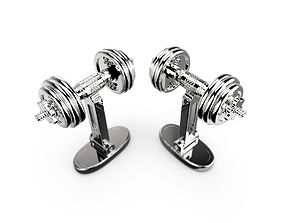 3D printable model Dumbbells cufflinks