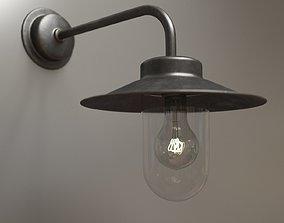 Exterior metal lamp 3D