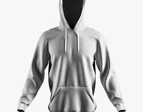 3D model hoodie w
