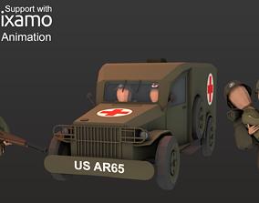 3D model WW2 US Medic