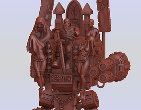 Inquisitor K Man and His Party Throne 3D printable model