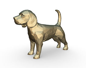 3D printable model beagle dog figure