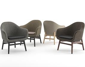Harbour Lounge Chair By MENU 3D model