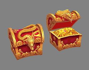 3D asset Chinese Dragon Treasure Box - treasure chest
