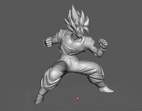 Son Goku Super Saiyan 3D Model toys