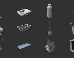 3D asset Restroom - intrerior and props
