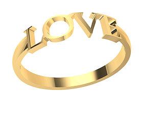 ring 3D printable model LOVE RING