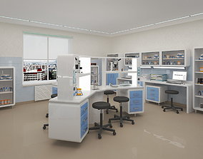 Chemical and research laboratories 02 3D asset