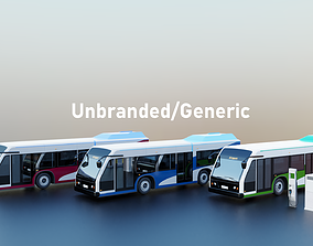 Unbranded Electric Bus- Pack 3D
