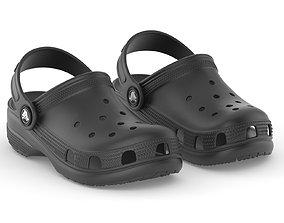 Crocs Classic Clog Black 3D