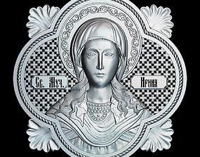 85 RELIGION ICON Martyr Irina 3D printable model