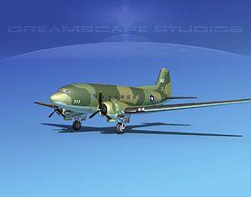 Douglas C-47 Dakota USAF V04 3D