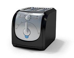 Black Kitchen Toaster 3D