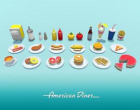American Diner Food 3D model