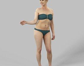 3D asset Yvette A Caucasian Woman Female Standing In Her