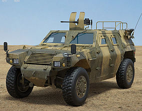armoured Komatsu LAV 3D model