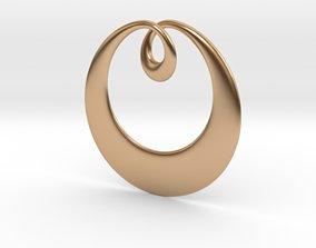3D print model Curve Pendant