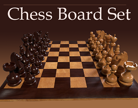 VR / AR ready 3D Chess Board Complete Set