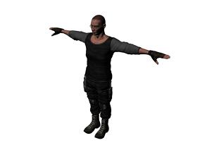 3D asset special forces night wolves named Farhod 0011