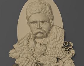 3D print model Taras Hryhorovych Shevchenko bas relief