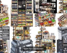 Market Place Set 3D