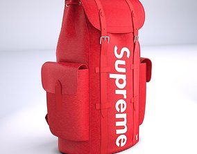 Supreme Louis Vuitton Bag Christopher Backpack PM 3D model
